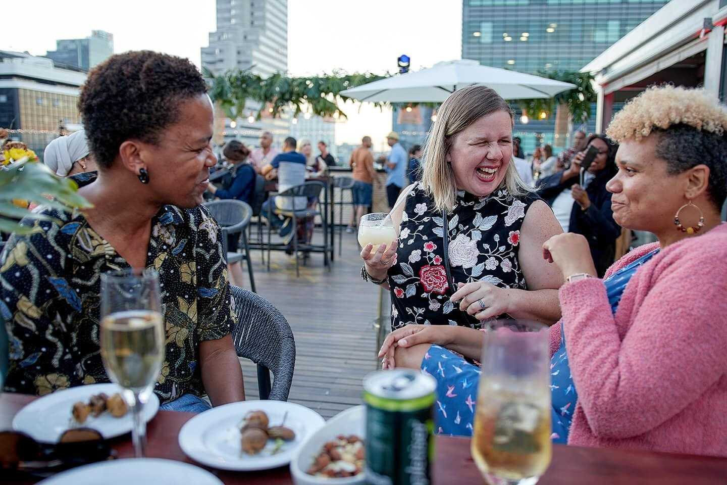 Guest enjoy the vibe at the Cape Town International Convention Centre (CTICC) new venue, the Mountain View Terrace as part of its Summer Nights promotion.